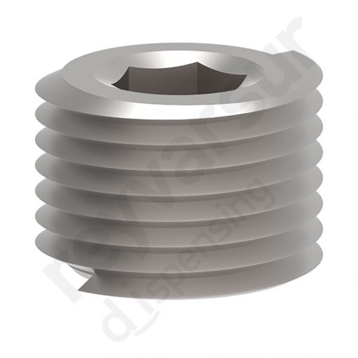 Tapón de alta presión con rosca G ¼″ fabricado en latón niquelado. Reyvarsur, soluciones en dispensación de bebidas, cerveza, vino, sidra, agua o soda.