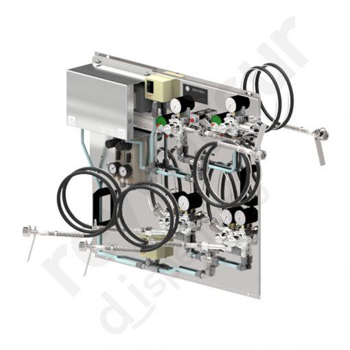 Panel mezclador de gases para dióxido de carbono y nitrógeno. Reyvarsur, soluciones en dispensación de bebidas, cerveza, vino, sidra, agua o soda.