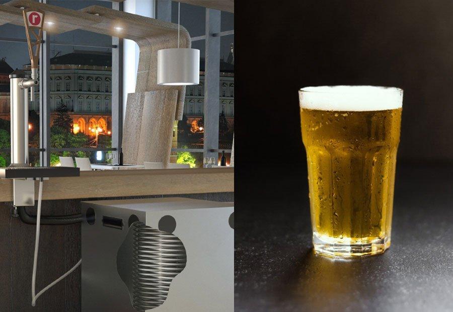 Conseguir que la cerveza salga a la temperatura adecuada del barril