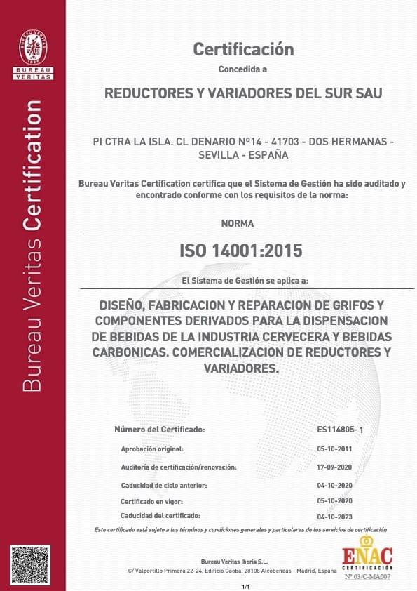 Reyvarsur ISO 14001 2015